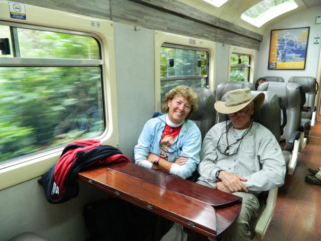 In tren spre Aguas Calientes