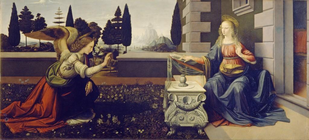 Leonardo da Vinci-Buna Vestire - Ufizzi