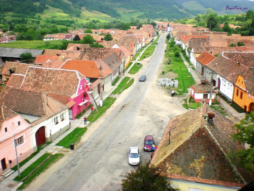 Valea Viilor din clopotnița bisericii
