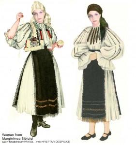 Costum romanesc din zona Sibiului